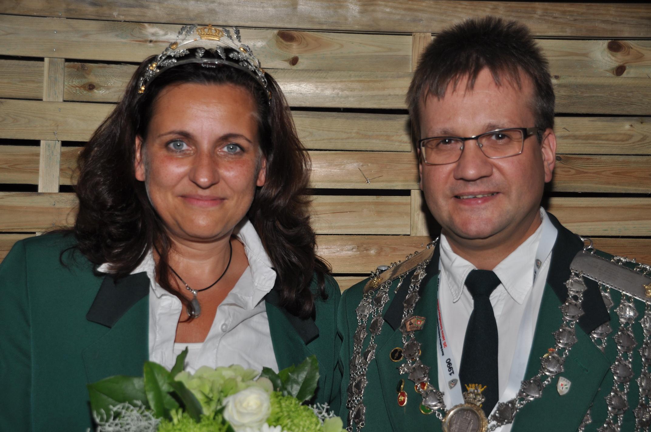 Das Königspaar 2015 / 2016 Stephanie Stapelfeld-Höftmann und Markus Grundmann